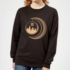 Harry Potter Globe Moon Women's Sweatshirt - Black