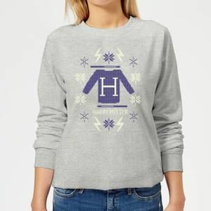 Harry Potter Christmas Sweater Women's Sweatshirt - Grey