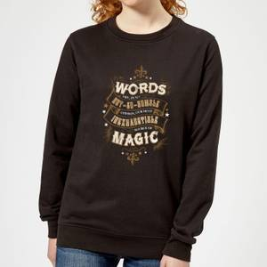 Harry Potter Words Are, In My Not So Humble Opinion Women's Sweatshirt - Black