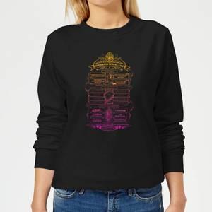 Harry Potter School List Women's Sweatshirt - Black