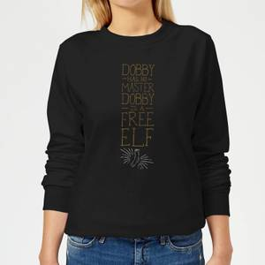 Harry Potter Dobby Is A Free Elf Women's Sweatshirt - Black