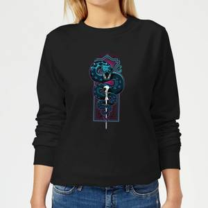 Harry Potter Nagini Neon Women's Sweatshirt - Black