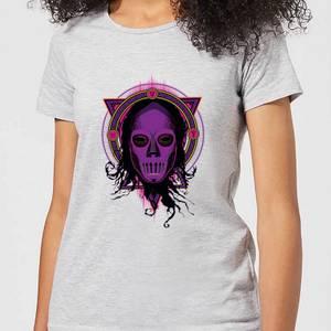Harry Potter Death Mask 2 Neon Women's T-Shirt - Grey
