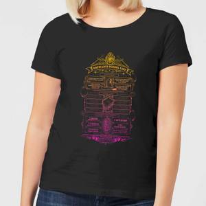 T-Shirt Harry Potter School List - Nero - Donna