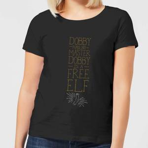 Harry Potter Dobby Is A Free Elf Women's T-Shirt - Black