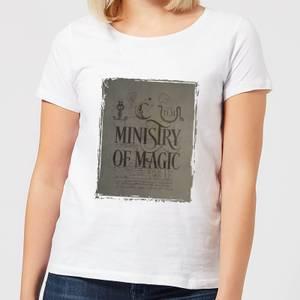 Harry Potter Ministry Of Magic Women's T-Shirt - White