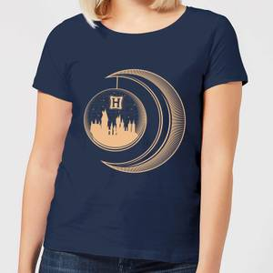 Harry Potter Globe Moon Women's T-Shirt - Navy