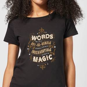 Harry Potter Words Are, In My Not So Humble Opinion Women's T-Shirt - Black