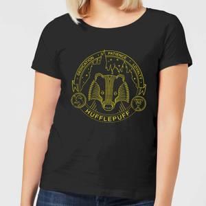 T-Shirt Harry Potter Tassorosso Badger Badge - Nero - Donna
