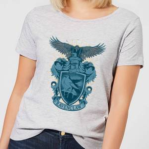 Harry Potter Ravenclaw Drawn Crest Women's T-Shirt - Grey