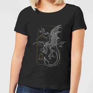Harry Potter Hungarian Horntail Dragon Women's T-Shirt - Black
