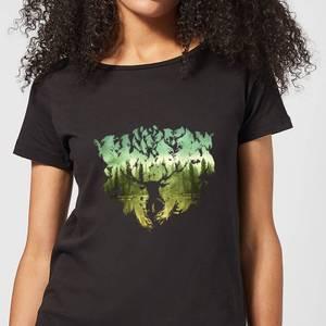 Harry Potter Patronus Lake Women's T-Shirt - Black