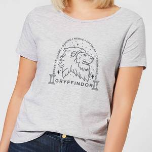 Harry Potter Gryffindor Linework Women's T-Shirt - Grey
