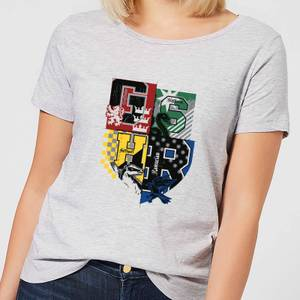 Harry Potter Varsity House Logo Women's T-Shirt - Grey