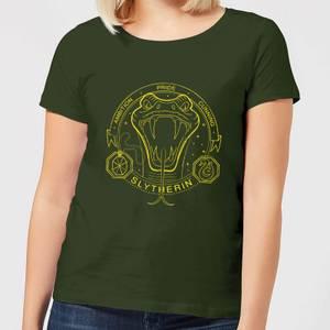 Harry Potter Slytherin Snake Badge Women's T-Shirt - Forest Green