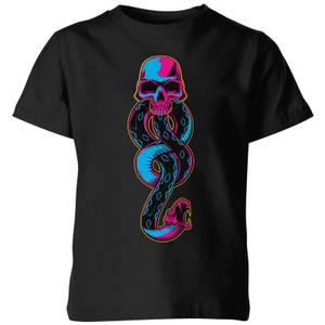 Harry Potter Dark Mark Neon Kids' T-Shirt - Black