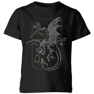 Harry Potter Hungarian Horntail Dragon Kids' T-Shirt - Black