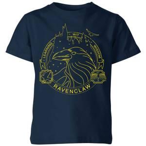Harry Potter Ravenclaw Raven Badge Kids' T-Shirt - Navy