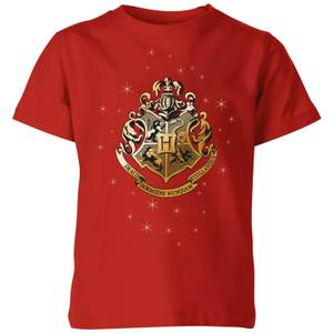 Harry Potter Star Hogwarts Gold Crest Kids' T-Shirt - Red