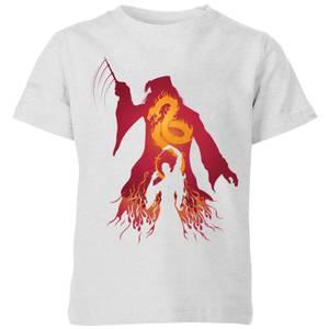 Harry Potter Dumbledore Voldemort Kids' T-Shirt - Grey