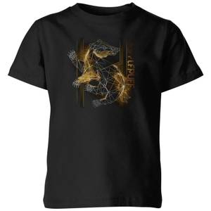 Harry Potter Hufflepuff Geometric Kids' T-Shirt - Black