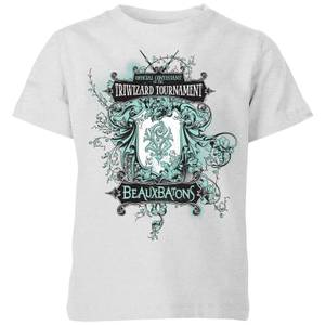 T-Shirt Harry Potter Triwizard Tournament Beauxbatons - Grigio - Bambini