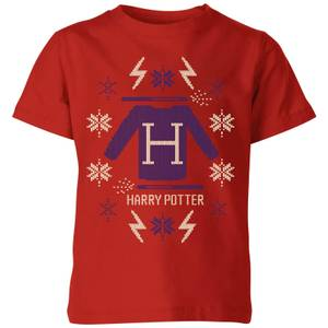 Harry Potter Christmas Sweater Kids' T-Shirt - Red