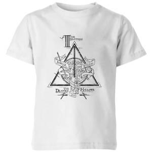 T-Shirt Harry Potter Three Dragons White - Bianco - Bambini