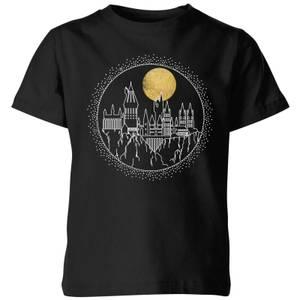 Harry Potter Hogwarts Castle Moon Kids' T-Shirt - Black