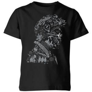 Harry Potter Harry Potter Head Kids' T-Shirt - Black