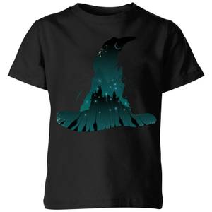 Harry Potter Sorting Hat Silhouette Kids' T-Shirt - Black