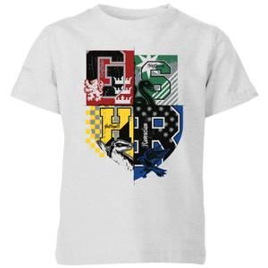 Harry Potter Varsity House Logo Kids' T-Shirt - Grey