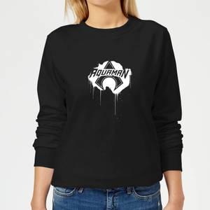 Justice League Graffiti Aquaman Women's Sweatshirt - Black