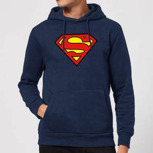Justice League Superman Logo Hoodie - Navy