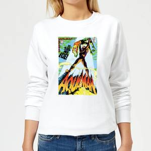 Justice League Aquaman Cover Women's Sweatshirt - White