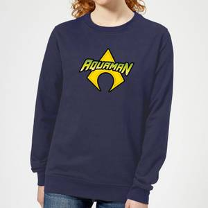 Justice League Aquaman Logo Women's Sweatshirt - Navy
