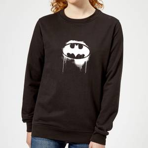 Justice League Graffiti Batman Women's Sweatshirt - Black