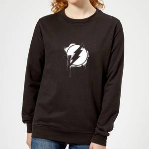 Justice League Graffiti The Flash Women's Sweatshirt - Black