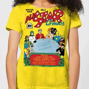 Justice League All Star Comics Cover Women's T-Shirt - Yellow