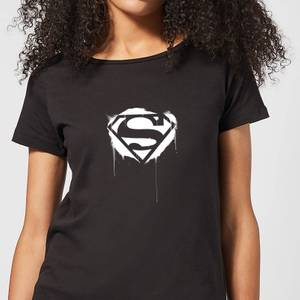 Justice League Graffiti Superman Women's T-Shirt - Black