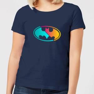Justice League Neon Batman Women's T-Shirt - Navy