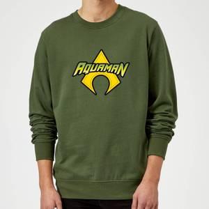 Justice League Aquaman Logo Sweatshirt - Forest Green