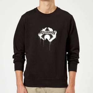 Justice League Graffiti Aquaman Sweatshirt - Black