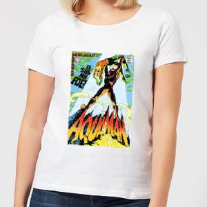 Justice League Aquaman Cover Women's T-Shirt - White