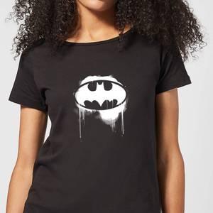 Justice League Graffiti Batman Women's T-Shirt - Black