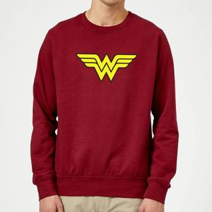 Justice League Wonder Woman Logo Sweatshirt - Burgundy