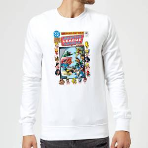 Justice League Crisis On Earth-Prime Cover Sweatshirt - White