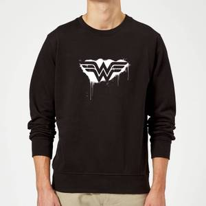 Justice League Graffiti Wonder Woman Sweatshirt - Black