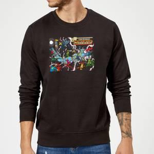 Justice League Crisis On Infinite Earths Cover Sweatshirt - Black