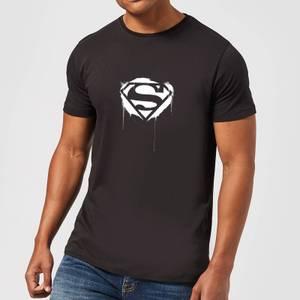 Justice League Graffiti Superman Men's T-Shirt - Black